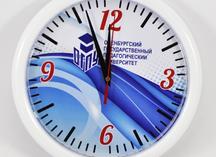 часы настенные: полноцветная печать на циферблате