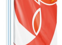 Флаг к 9 мая вертикальный: полиэстер, сублимация