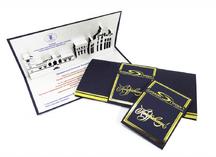 открытки из картона с лазерной резкой и фольгированием
