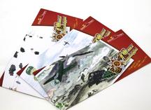 открытка к 9 мая: дизайнерский картон, полноцветная печать