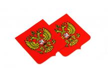 шевроны с гербом России