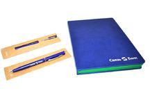 Ежедневник и ручка с логотипом компании. Uf-печать.