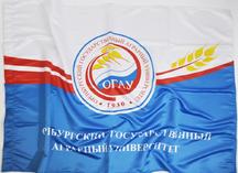 Флаг для ОГАУ: флажная ткань, сублимационное нанесение рисунка