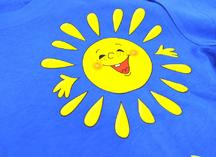 нанесение на цветную футболку термотрансферной пленкой rolland