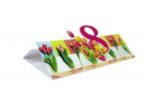 открытка к 8 марта: дизайнерский картон, лазерная резка, вкладыш
