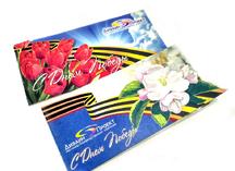 открытка к 9 мая: дизайнерский картон, лазерная резка, вкладыш из кальки