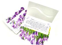 открытка с 8 марта: дизайнерский картон, двусторонняя полноцветная печать, лазерная резка