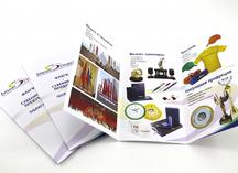 рекламный буклет: двусторонняя полноцветная печать, дизайнерская бумага, два сгиба