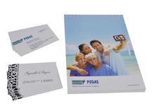 Визитки и блокноты для Пегас туристик