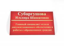 """Табличка кабинетная: пластик 3 мм, фольгирование """"золото"""""""