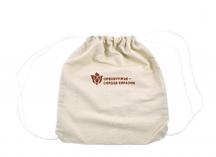 """рюкзак для форума """"Евразия"""", ткань - грубый хлопок, нанесение логотипа - термоперенос"""