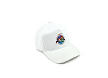Бейсболка белая с полноцветной печатью эмблемы