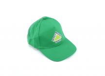 Бейсболка зеленая с полноцветным логотипом Леруа Мерлен