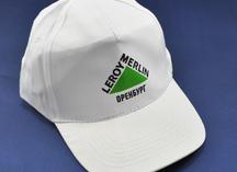 бейсболка белая с логотипом Леруа Мерлен