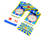 двусторонний атласный шарф, нанесение - сублимация