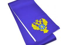 галстук с гербом, нанесение - сублимация
