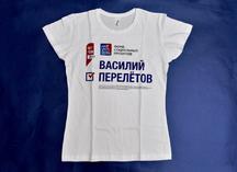 полноцветное нанесение изображения на белую футболку