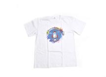 Белая футболка с нанесением рисунка, термоперенос