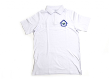 Белая футболка с логотипом, термоперенос