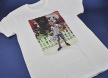 Белая футболка детская. Нанесение - термоперенос.