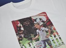 Термоперенос полноцветного изображения на белую футболку