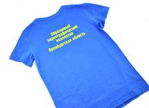 Цветные х/б футболки с нанесением flex