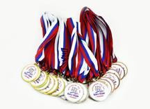 Медали с наклейками