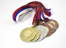 Медали с вкладышами, плавание