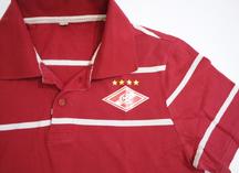 полноцветное нанесение логотипа на цветную рубашку поло