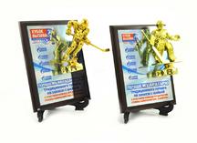 плакетки сублимационным нанесением изображения и фигурками