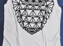футболка без рукавов с сублимационным нанесением
