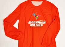 футболка цветная с длинным рукавом, полноцветное нанесение методом сублимации