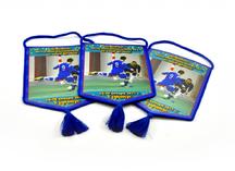 вымпелы из ткани для чемпионата воздушно-космических сил по мини-футболу