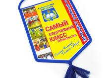 Вымпелы из ткани для 3 гимназии Оренбурга