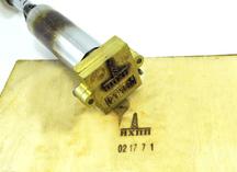 Термоклише - штамп для выжигания со сменными элементами
